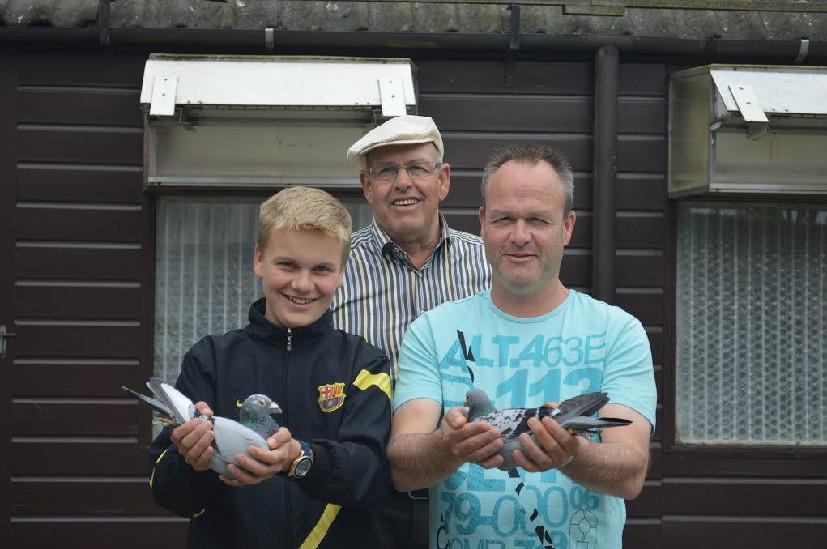 Dries de Hoogh en zn, Oosterhout winnen Cahors in sector I tegen 8.966 duiven