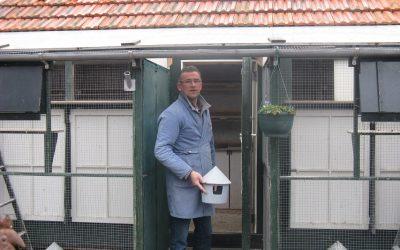 Bernard Hanno, Roermond, draait in 2018 weer ouderwets zijn vroege duiven