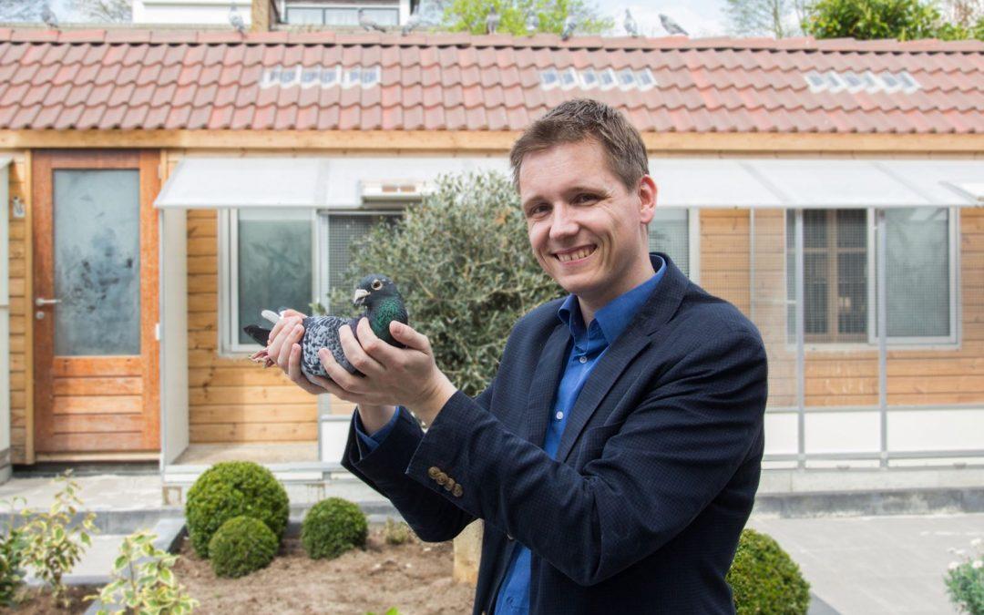 Mooi Trio Kopduiven voor Frank Zwiers van Agen ZLU jaarlingen